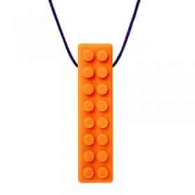 bijtketting ark therapeutic brick stick oranje
