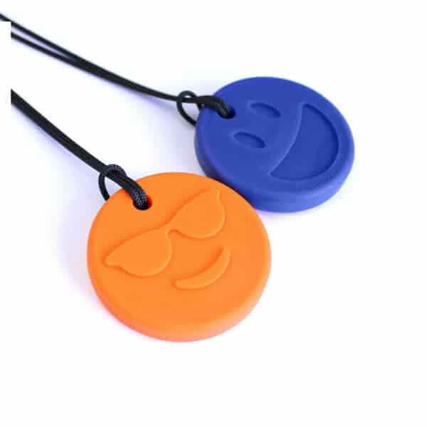 ark-bijtketting-smiley-face-oranje-blauw