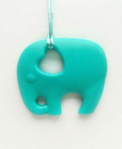 bijtketting-olifant-turquoise