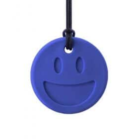 bijtketting ark therapeutic smiley donker blauw
