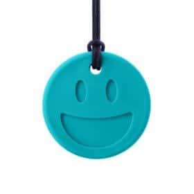 bijtketting ark therapeutic smiley turquoise