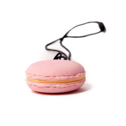 bijtketting macaron roze zijkant