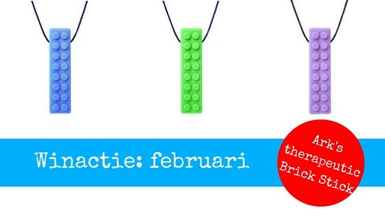 winactie februari bijtketting ark therapeutic brick stick