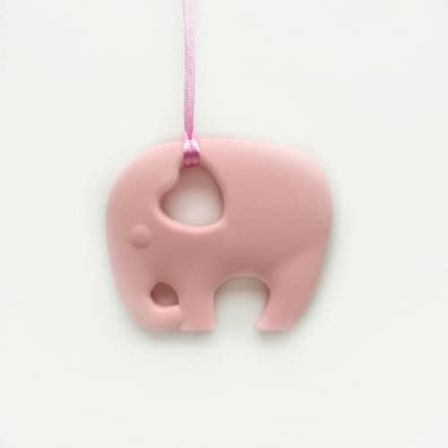 bijtketting-olifant-roze
