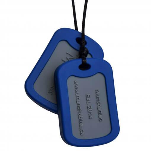 Munchables Dog Tags blauw