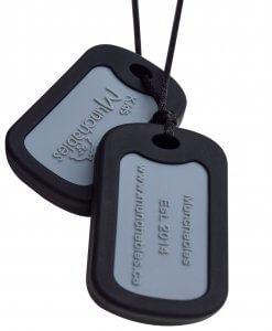 Munchables Dog Tags zwart
